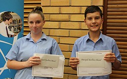 Erin moy & Charlie Dawson received the Principals Excellence Award for Year 7