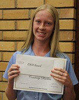 Courtney Sinclair received the CWA Award for Academic Achievement for Year 9.
