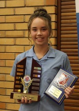 Tianna Simpson received the Auld Family Award for excellence in Creative and Performing Arts.