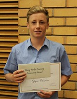 Zayne Ehsman received the Henry Parkes Learning Community Award for contributions to the learning community and the Principals Excellence Award for Year 9