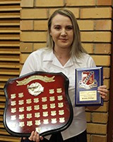 Brooke Phillips received the Shannon Elliott Memorial Award for perseverance in studies and positive attitude at school.