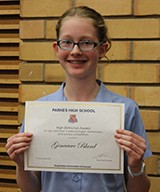 Genevieve Bland received the High Distinction Award for high distinction in external competitions.