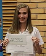 Sarah Reeves received the PHS P&C Association Award for leadership and community service