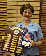Elizabeth Hoyle received the Public Speaking Award for excellence in public speaking.