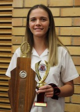 Hannah Potts received the Senior Sportswoman Award