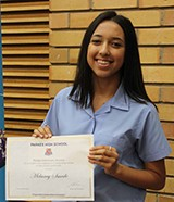 Melaney Smede received the Parkes Stationery Award for a student who displays an outstanding nature to the school community.